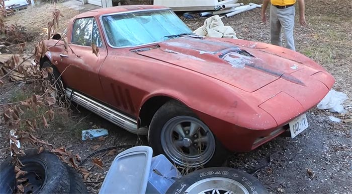 [VIDEO] 1966 Corvette Barn Find with a 327 'Mouse' Motor