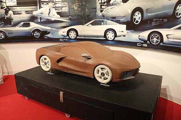 C8 Corvette Displays at the NCM Include Miniture Clay Model and a Engineering Prototype