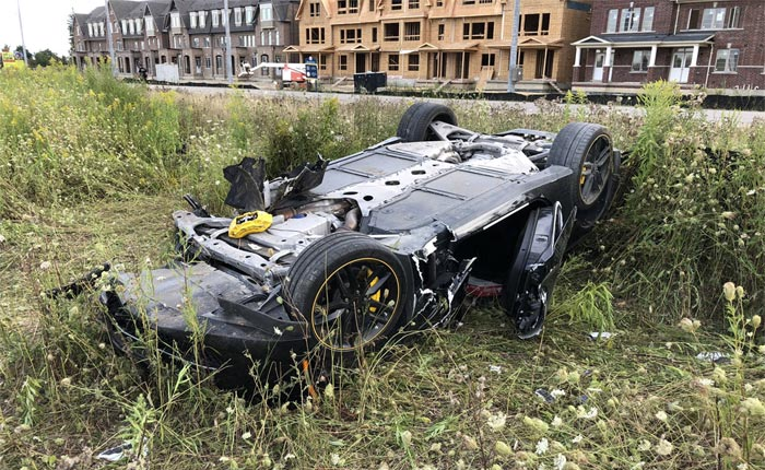 [ACCIDENT] Canadian Man Arrested After Crashing C7 Corvette and Leaving the Scene