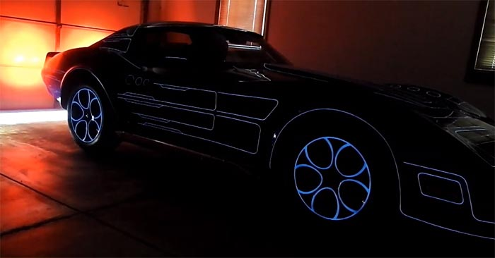 [VIDEO] 1977 Corvette 'Grid Car' with Glow-In-The-Dark Stripes Inspired by Original Tron Movie