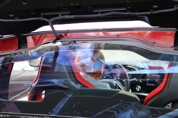 A 1LT 2020 Corvette Stingray with a Transparent Top at the NCM