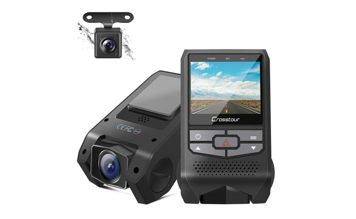 [AMAZON] Save 20% on the Crosstour Dual Dash Cam Now Just $39.99