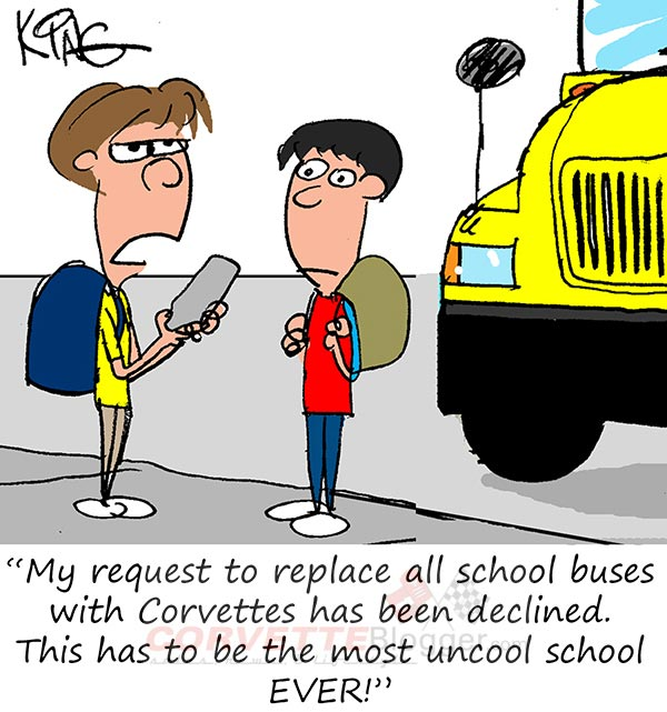 Saturday Morning Corvette Comic: Back to School