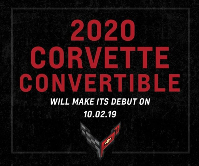 2020 Corvette Convertible To Make its Debut on October 2nd