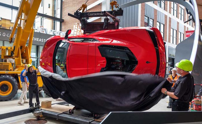 2020 Corvette Stingray Now On Display at Detroit's Little Caesars Arena