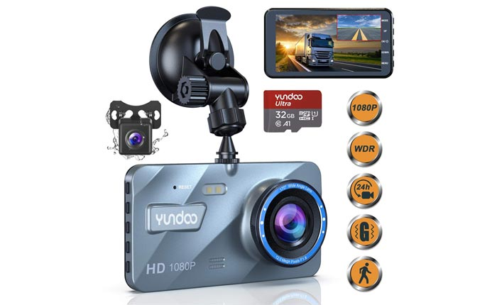 [AMAZON] Save 45% on YUNDOO's Dual Dash Camera Now Shipping for $32