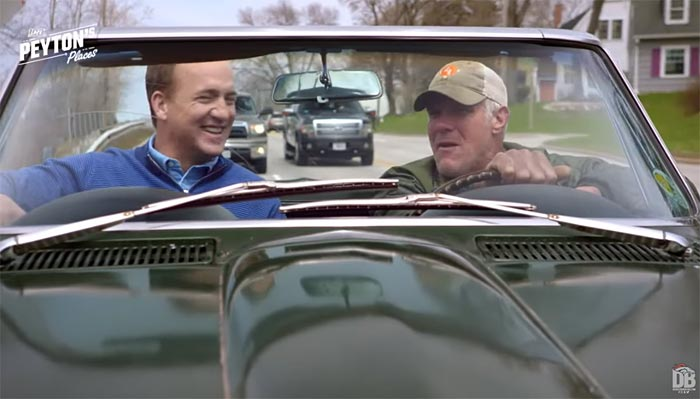 [VIDEO] Brett Favre and Peyton Manning Go For Drive in Green Bay in Bart Starr's 1967 Corvette