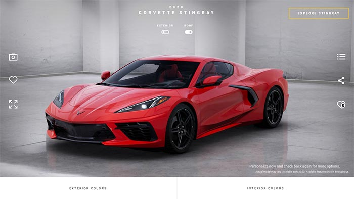 [VIDEO] Corvette Configurator Occasionally Shares Advanced 3D Views for the 2020 Corvette Stingray's Interior