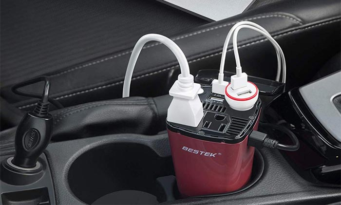 [AMAZON] BESTEK 200W Car Power Inverter Offers AC Power When You're On the Road