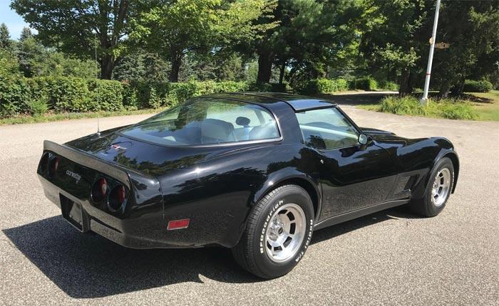 Corvettes for Sale: Black 1980 Corvette Offered on Bring A Trailer