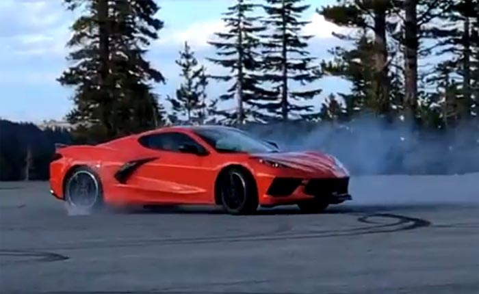 [VIDEO] Road and Track Tests the C8 Corvette's Ability to do Donuts
