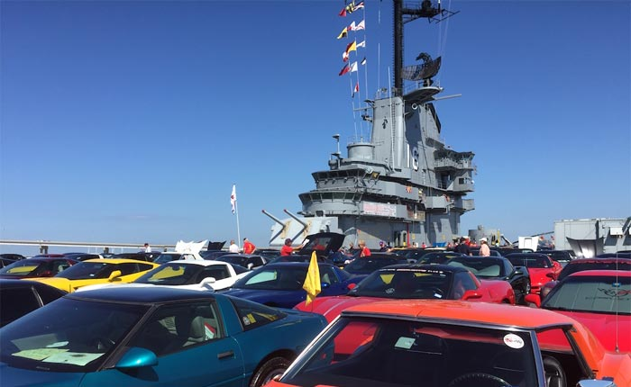 Join the NCM's 1962 'Sinkhole' Corvette for the Final Car Show on the Deck of the USS Lexington