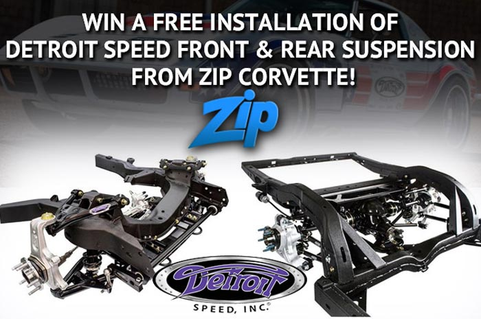 Win a Free Detroit Speed Suspension Install Valued at $3,400 from Zip Corvette