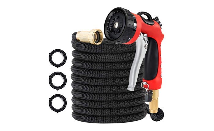 [AMAZON] Save 55% on the MATCC 50-FT Expandable Hose with 8-Pattern Sprayer Now $16.64 Shipped