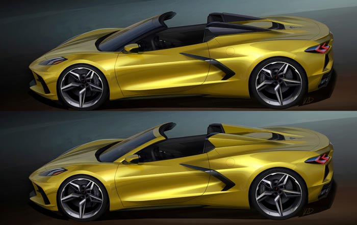 Chevrolet Shares These Early Renderings of the 2020 Corvette Stingray