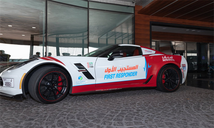 [PICS] Dubai Ambulance Service Receives an New Corvette Grand Sport for First Reponders
