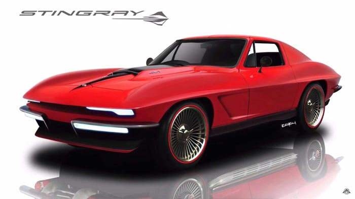SketchMonkey Renders New Corvette from a 1967 427 Coupe