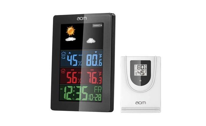 [AMAZON] Save 50% on the AOM Wireless Weather Station Now Just $16.49