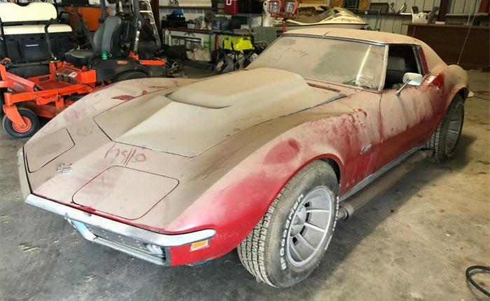 Corvettes for Sale: Barn Find 1969 Corvette