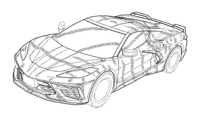 GM Receives Design Patent for the C8 Corvette Coupe