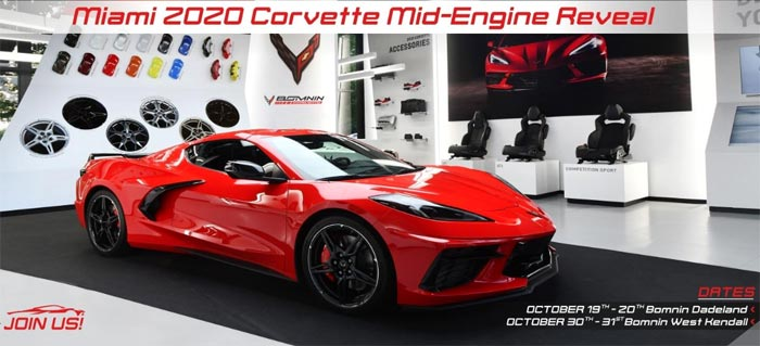 Come See the Miami 2020 Corvette Coupe and Convertible Reveal This Weekend at Bomnin Dadeland