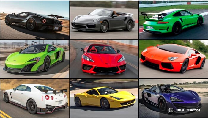 Motor Trend C8 Fast Than these 10 cars