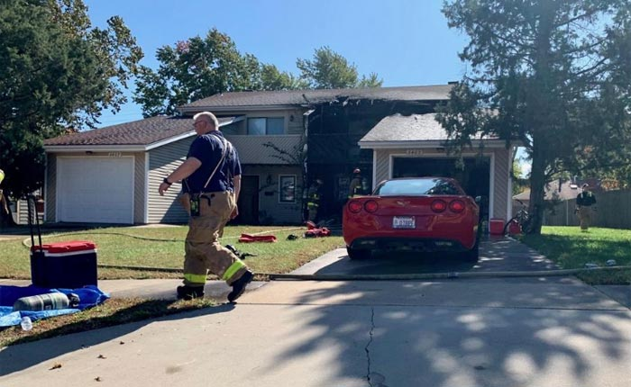 Firefighters Save a C6 Corvette From Burning Townhome