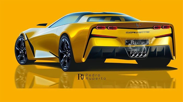 [PIC] C8 Corvette Was Rendered as a Front Engine Sportscar