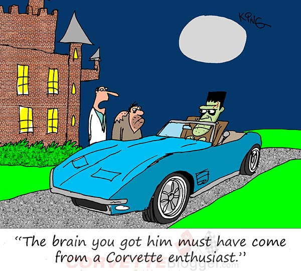 Saturday Morning Corvette Comic: Corvettes on the Brain
