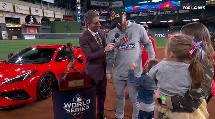[PICS] 2020 Corvette Stingray Awarded to World Series MVP Stephen Strasburg