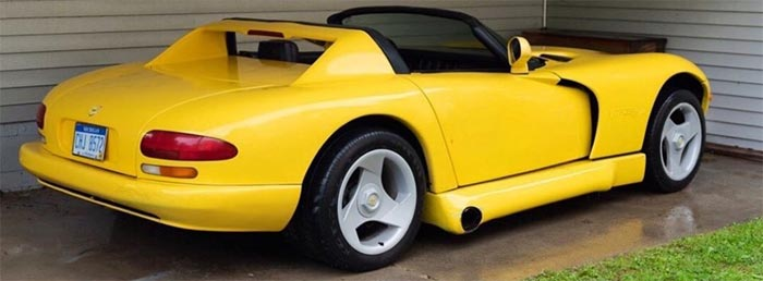 This C4 Corvette is Dressed Up to Look Like a Dodge Viper