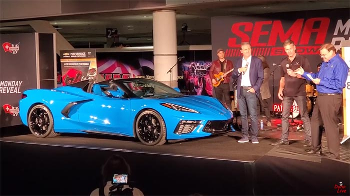 Sema Auto Show 2020.Video Watch The 2020 Corvette Stingray Convertible And C8 R