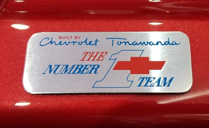 [PICS] New Tonawanda Pride Badge To Be Featured on the C8 Corvette's LT2 V8 Engine