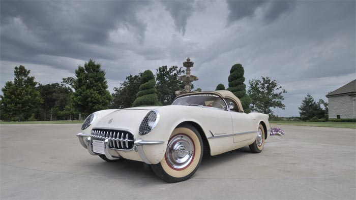 Anonymously Donated 1954 'Entombed' Corvette Joins the National Corvette Museum's Collection