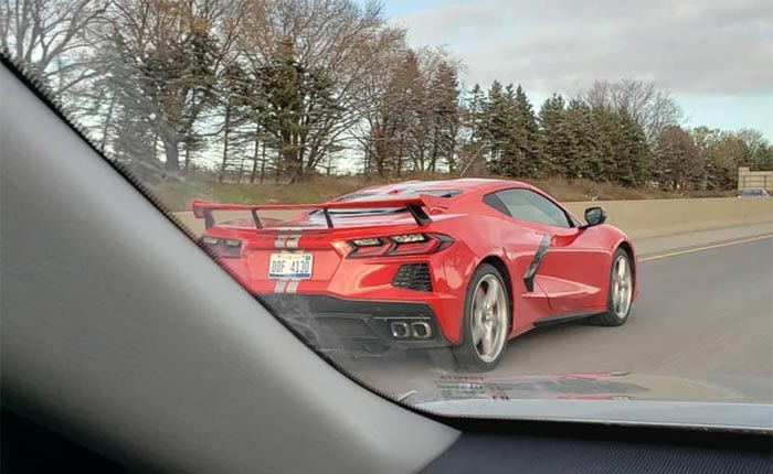 [SPIED] High Winged 2020 Corvette Stingray With Silver Stripes