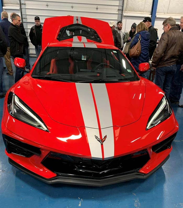 High Winged 2020 Corvette Stingray With Silver Stripes