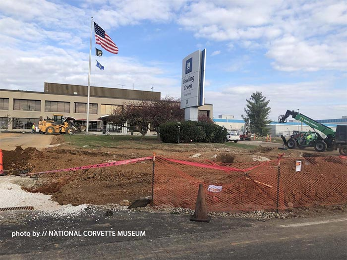 The Corvette Assembly Plant's Corvette Display Area is Receiving a Facelift