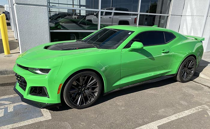 Colors We'd Like to See on the C8 Corvette: Spitfire/Krypton Green