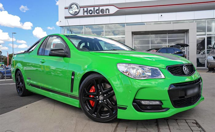 Holden Ute in Spitfire Green