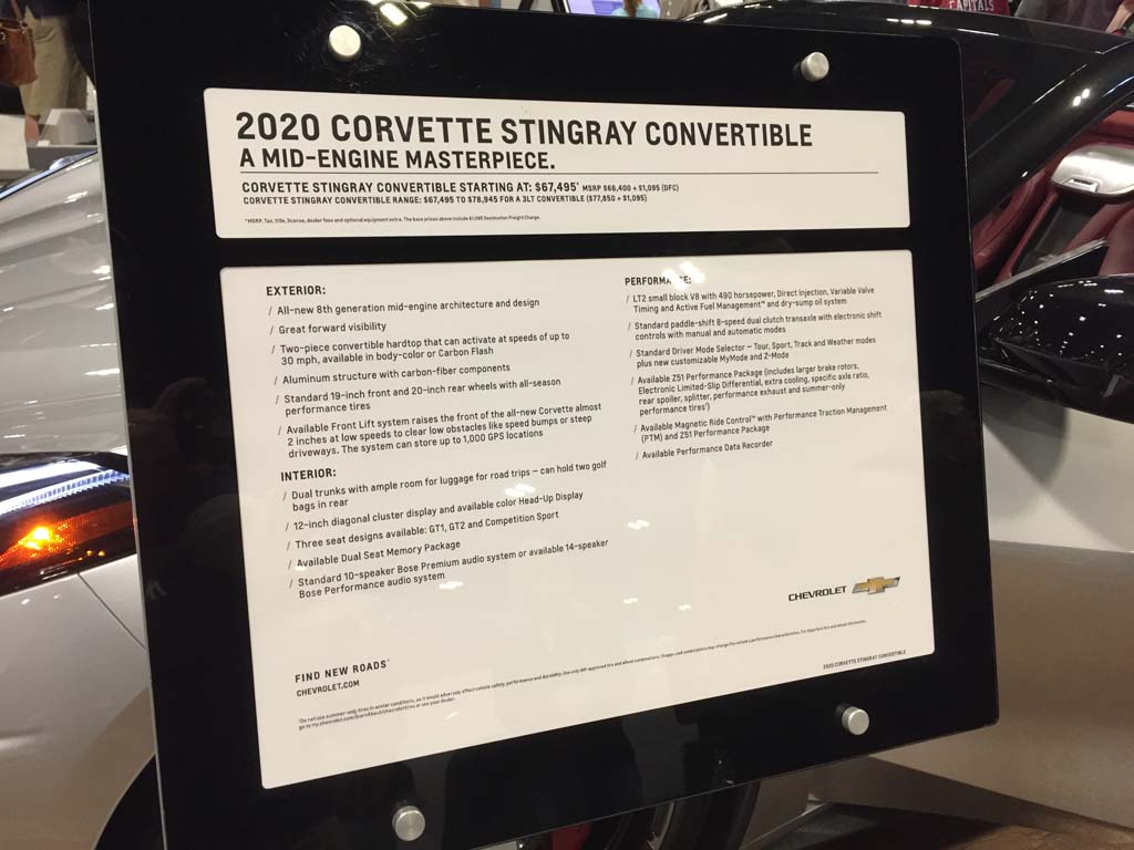 Video 2020 Corvette Stingray Convertible Presentation At