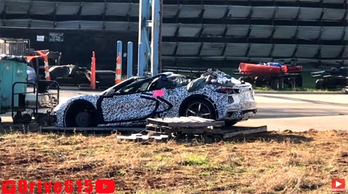 [VIDEO] Wrecked 2020 Corvette Stingray Spotted Behind the Corvette Assembly Plant