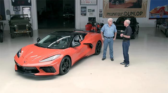 [VIDEO] Tadge Juechter and the 2020 Corvette Stingray Convertible Visit Jay Leno's Garage