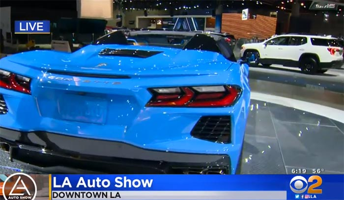 [VIDEO] 2020 Corvette Stingray Convertible in Rapid Blue is on Display at the LA Auto Show