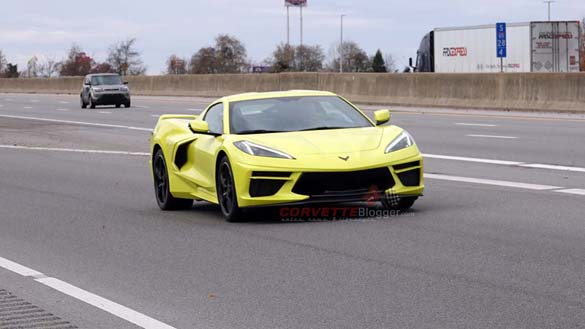 [SPIED] Accelerate Yellow 2020 Corvette Stingray on the Road in Bowling Green