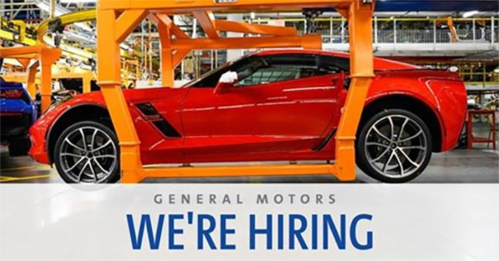 Corvette Assembly Plant is Hiring Temporary Full-Time Production Workers