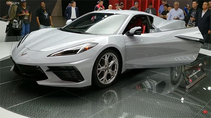 [VIDEO] Ceramic Matrix Gray Corvette Stingray on the Turntable at the LA Auto Show