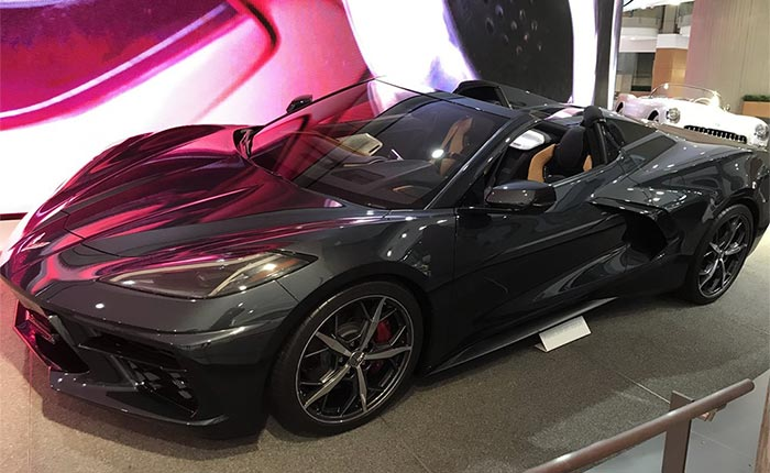 [VIDEO] 2020 Corvette Stingray Convertible in Shadow Gray on Display at GM's Detroit Headquarters