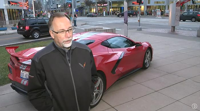 [VIDEO] Corvette Exterior Design Manager Kirk Bennion Brings a C8 Corvette to the Cleveland Institute of Art