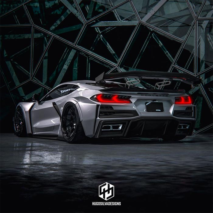 [PICS] Sinister Widebody Rendering Pushes the C8 Corvette's Design Envelope
