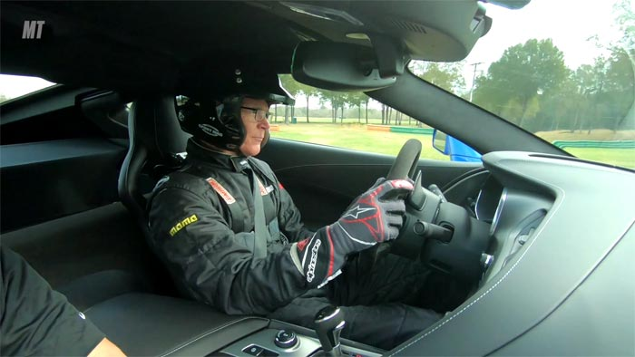Randy Pobst Drives the C7 and two C8s